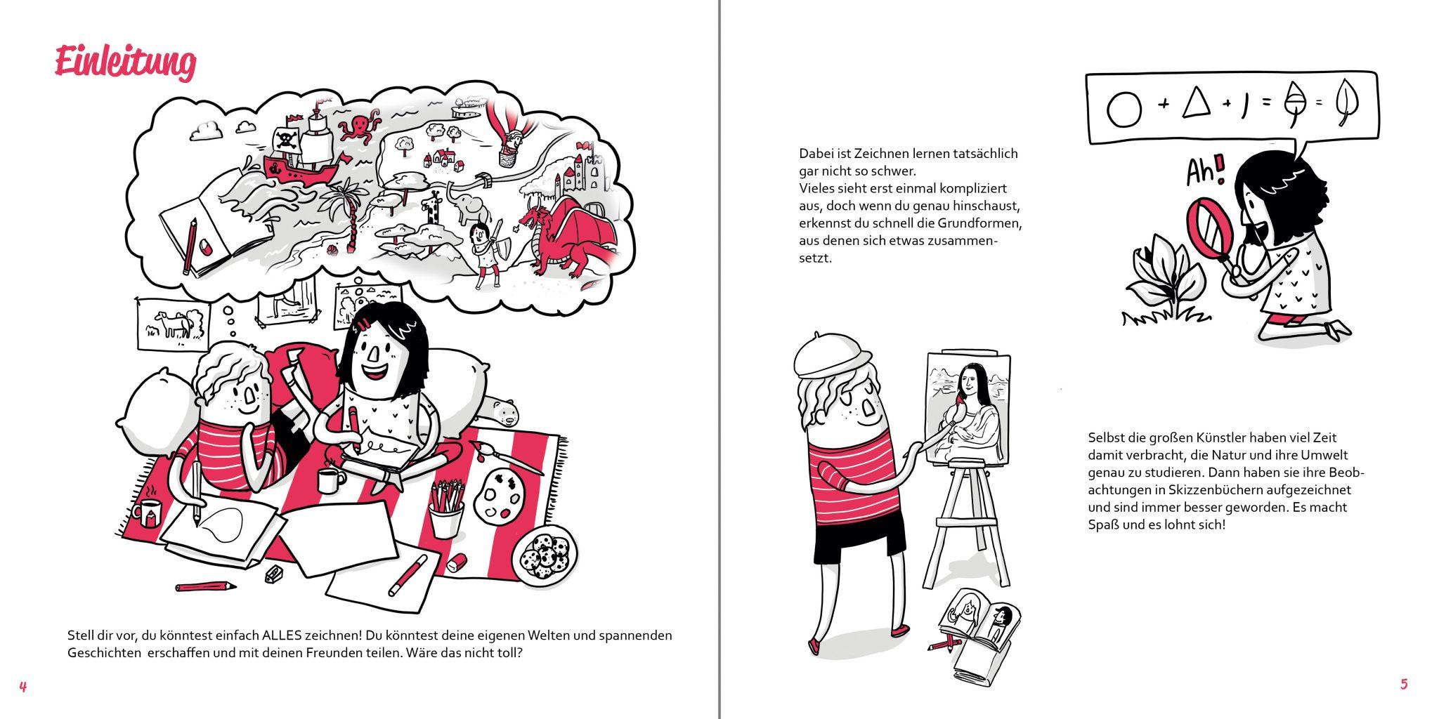 So zeichnest du Buch Zeichenschule Einleitung Krea und Tivo