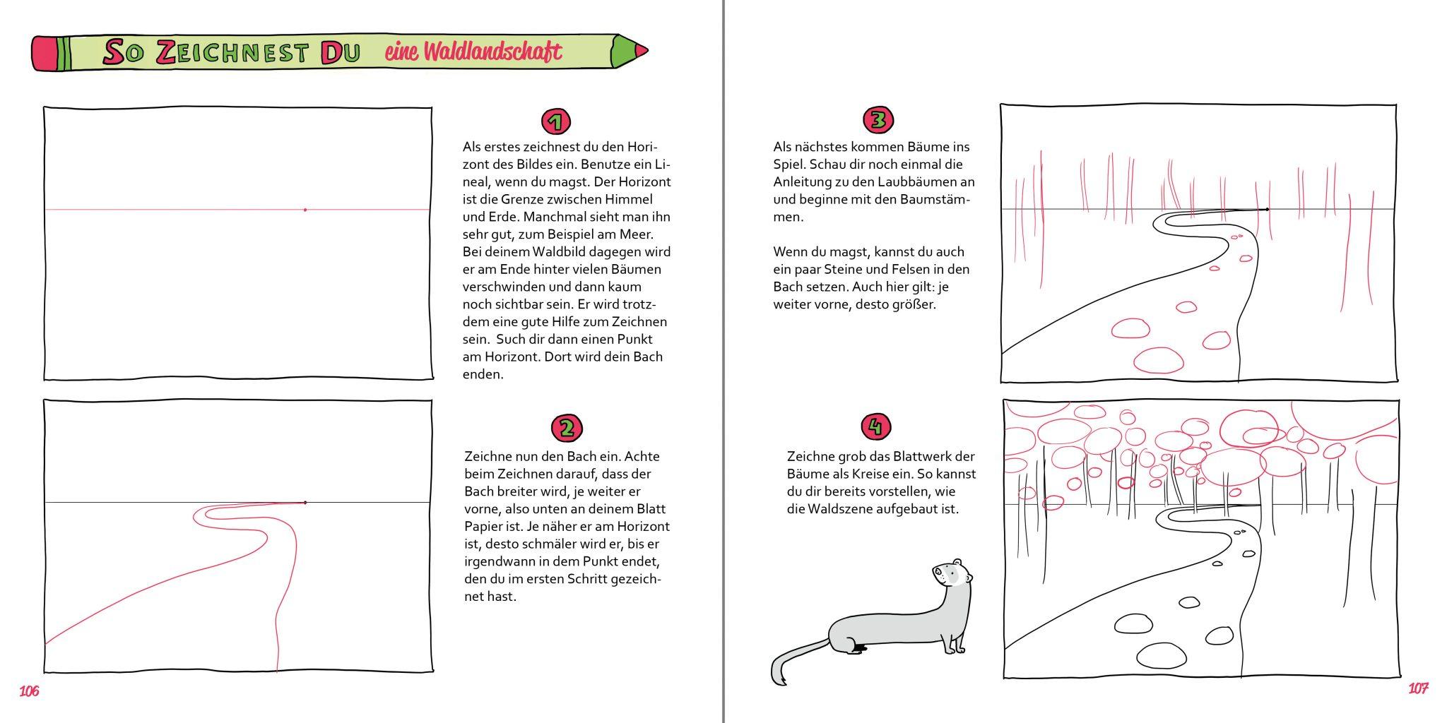 So zeichnest du Buch Zeichenschule Waldlandschaft 1