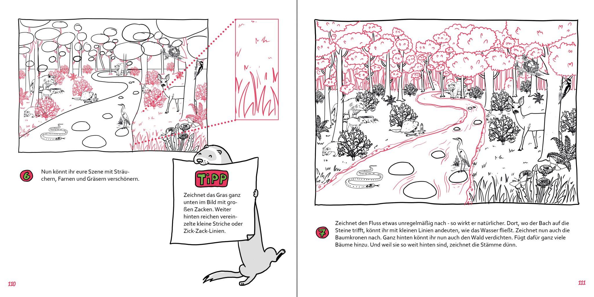 So zeichnest du Buch Zeichenschule Waldlandschaft 2