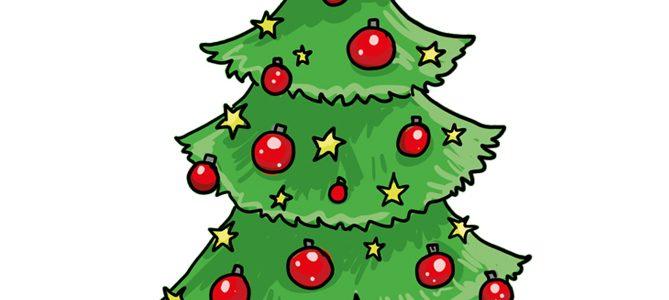 So zeichnest du einen Weihnachtsbaum