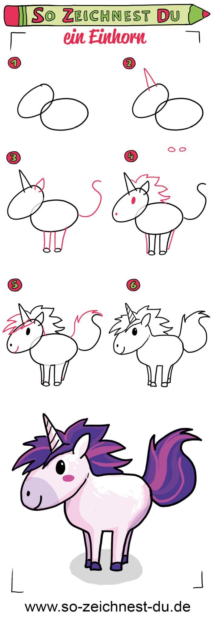 So zeichnest du ein Einhorn Zeichenschule Fantasy
