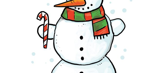 So zeichnest du einen Schneemann
