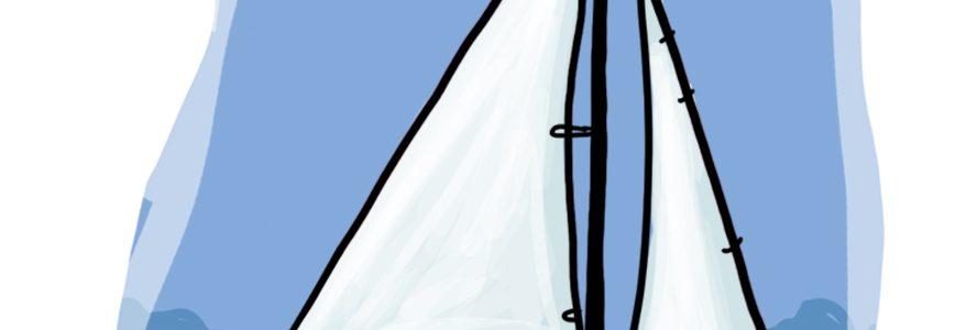 So zeichnest du ein Segelboot