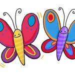 So zeichnest du einen Schmetterling (einfach)